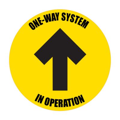 one-way-system-in-operation-sticker-yellow